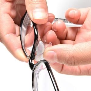 5 пар носоупоров для очков, клейкие силиконовые носоупоры, Нескользящие прозрачные, черные тонкие носоупоры для очков, солнцезащитные очки