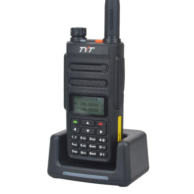TYT MD-760 dmr walkie talkie UHF VHF Dual band 136-174  400-470MHz 5W 1024CH Dual time slot digital DMR handheld talkie walkie enlarge