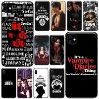 tv the vampire diaries phone cases for iphone 11 12 pro xs max 8 7 6 6s plus x 5s se 2020 xr soft silicone shell cover funda