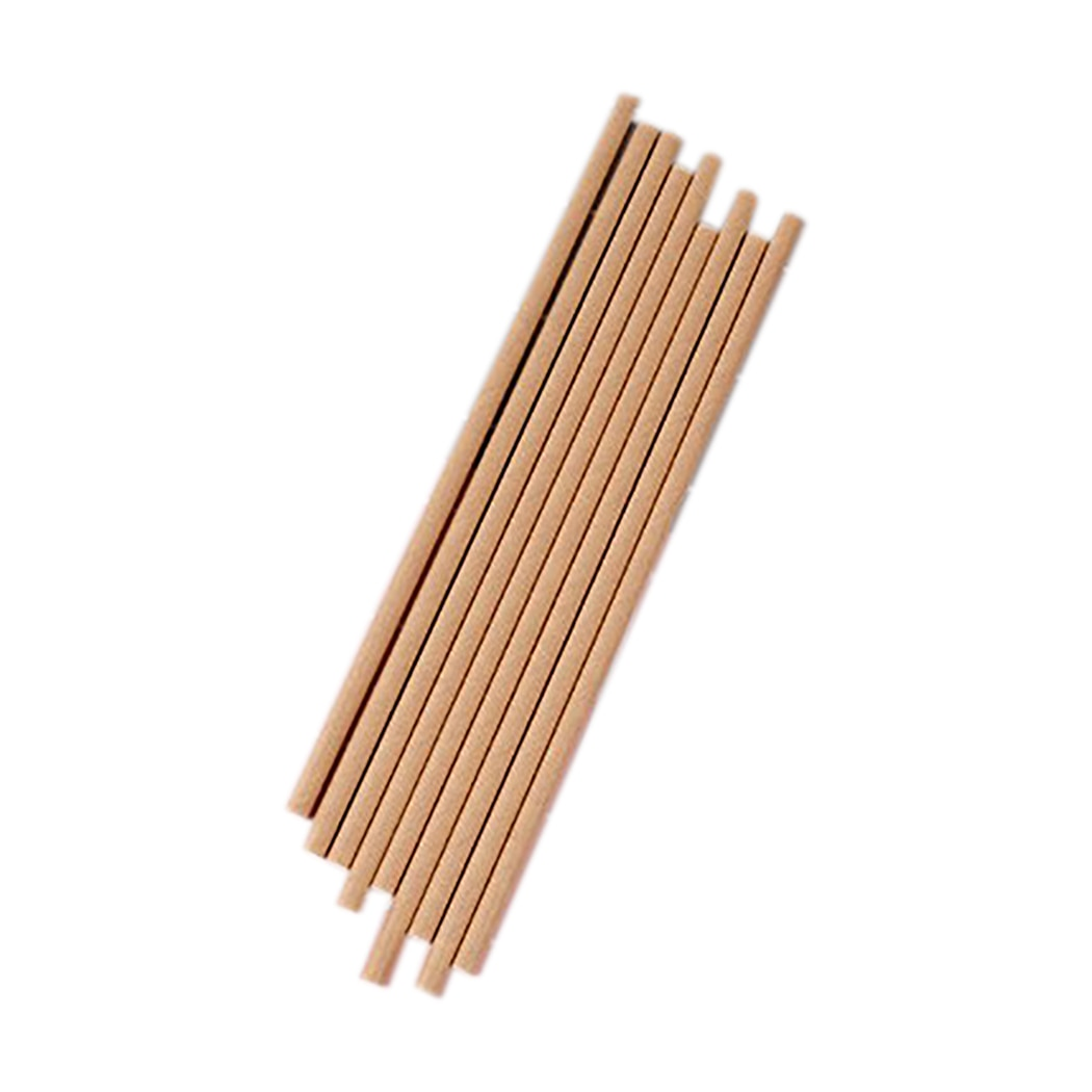 100PCS Drink Paper Straws Natural Disposable Drinking Solid Color Birthday Party Decorations Wedding Supplie