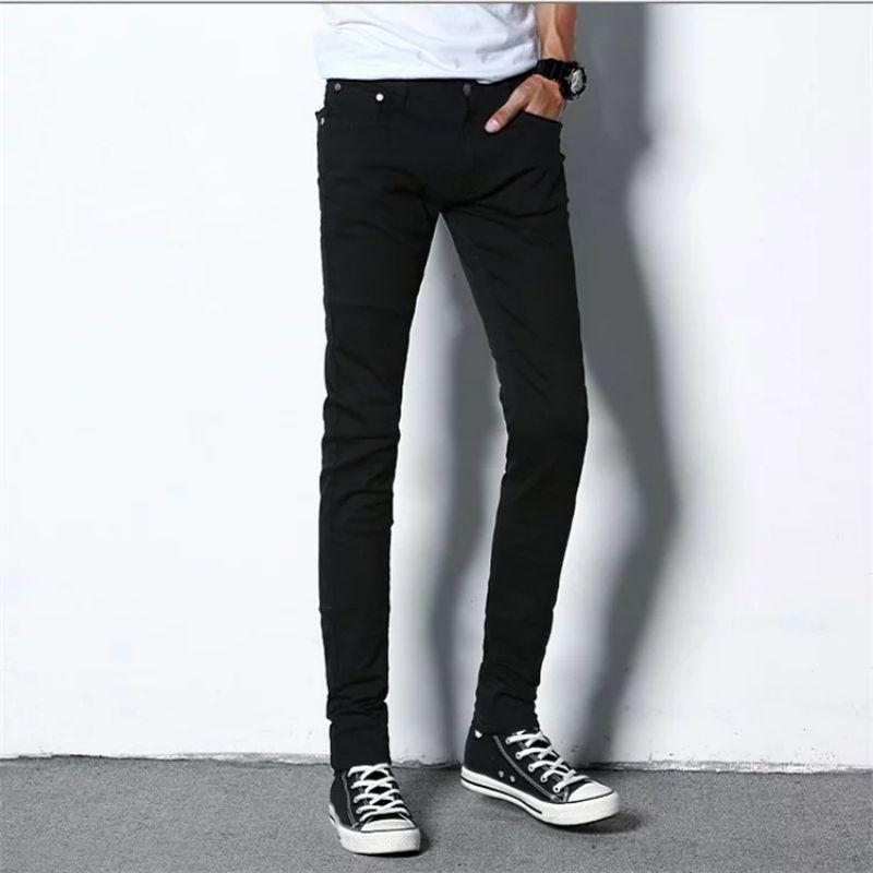 Fashion Jeans Men High Waist Skinny Jeans Mens Cool Designer Brand Black Jeans Skinny Zipper Draped Jeans Pantalon Homm middle waist skinny jeans