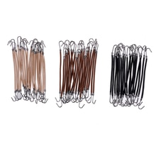 20Pcs/lot  Hair Bands With Elastic Clips Ponytail Hooks Headband Rubber Bands Hair Braid Thick/Curly