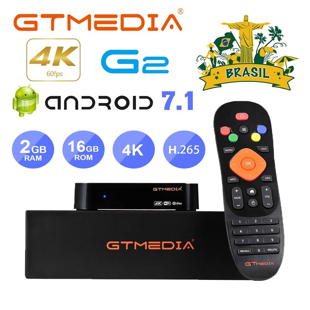 GTmedia G2 صندوق التلفزيون أندرويد 7.1 الذكية صندوق التلفزيون 2GB 16GB واي فاي جوجل يلقي Netflix مجموعة صندوق فوقي PK G1 GTC X96mini مع M3U GTplayer