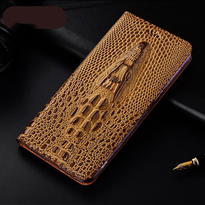 Crocodile Head Veins Leather Case Cover For XiaoMi Redmi Note 5 6 7 8 8T 9 9S Pro Max  Wallet Flip Cover