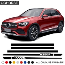 Edition 1 Styling Car Door Side Stripes Skirt Sticker Car Hood Decal for Mercedes Benz GLC Class X25
