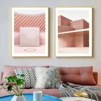 Peinture sur toile abstraite avec Blush  decoration de maison sans cadre