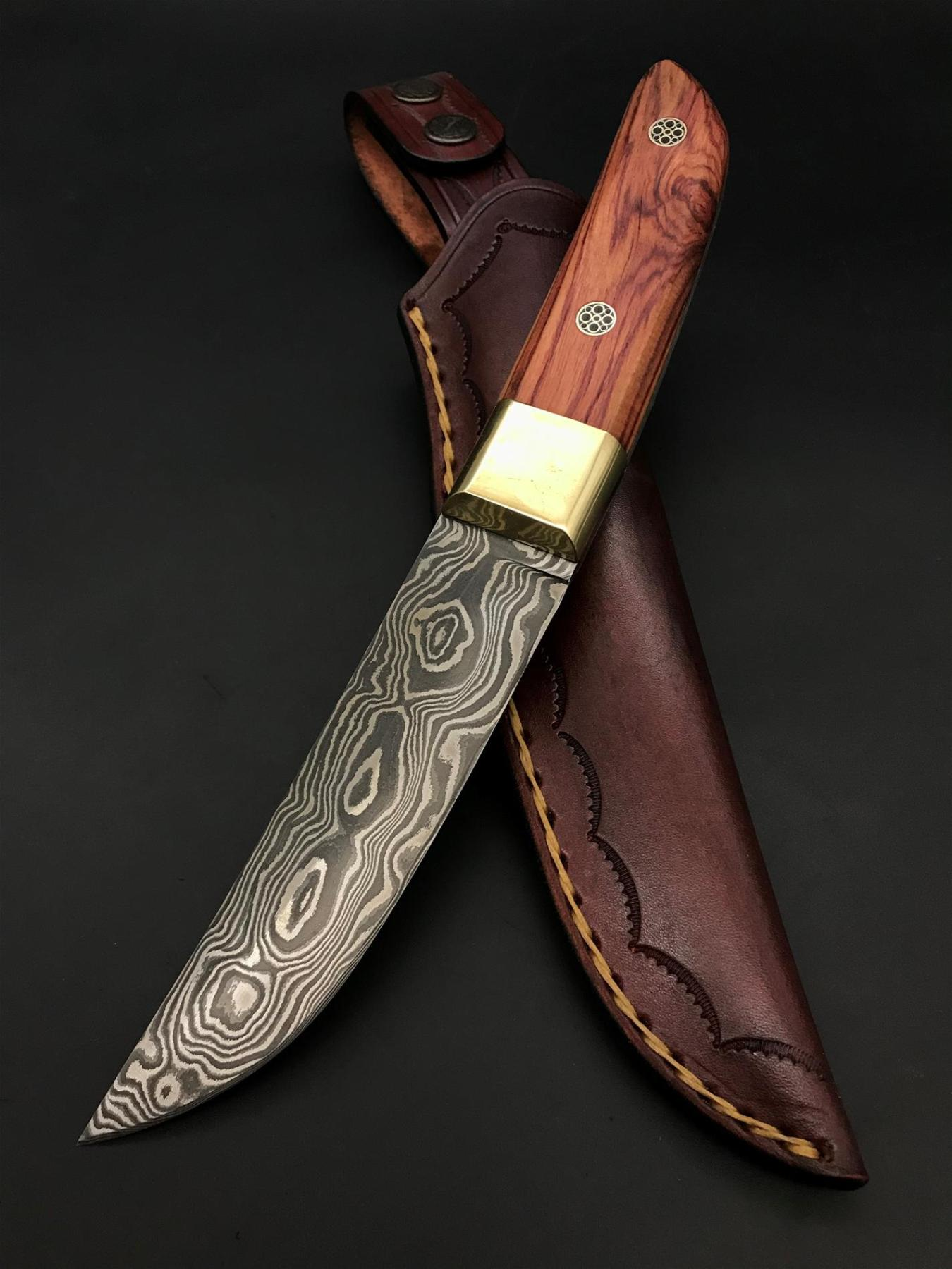 Handmade Damascus Special Design Knife TK36