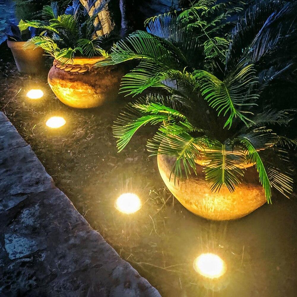 10 LED lámpara Solar impermeable al aire libre jardín paisaje césped camino luces terraza jardín patio, césped lámparas