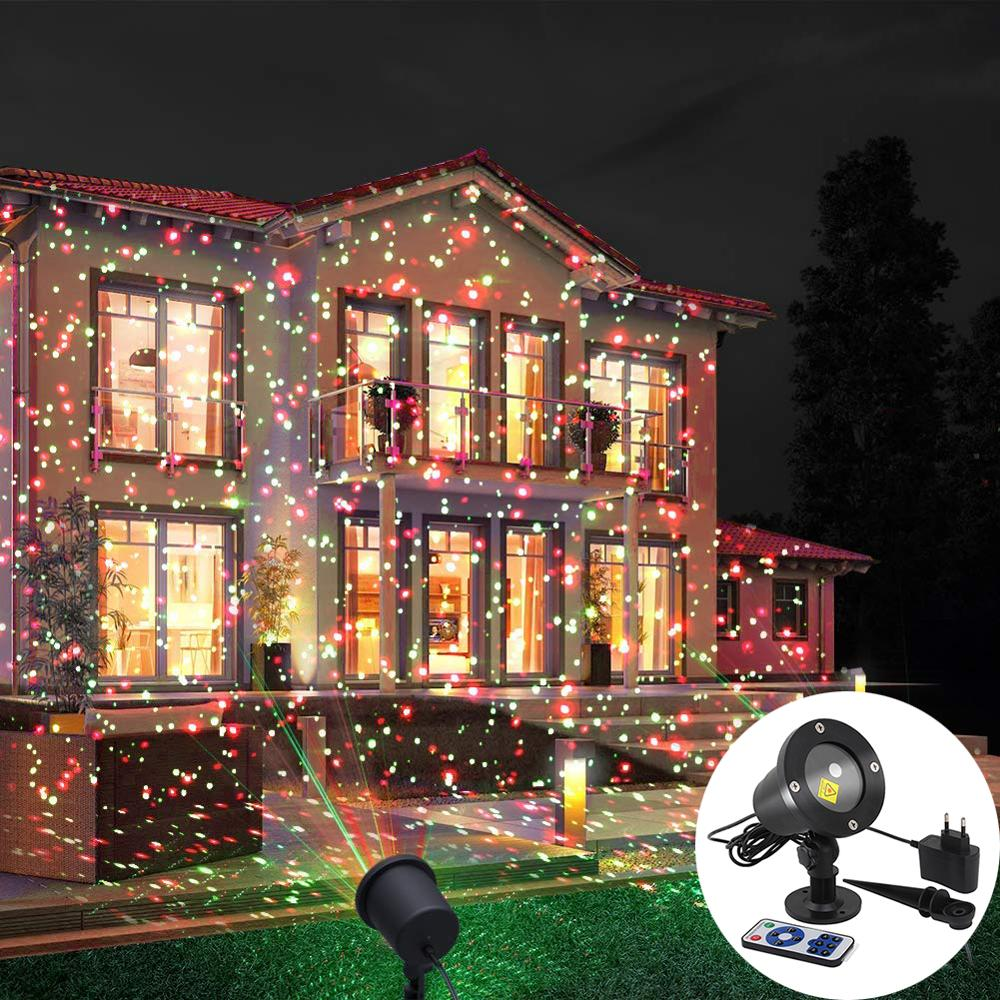 Outdoor Moving Full Sky Star Laser Projector Landscape Lighting Red&Green LED Stage Light for Christmas Party Garden Lights new mini snowfall projector christmas lights outdoor projector ip65 moving head laser snow led stage light for xmas party lights