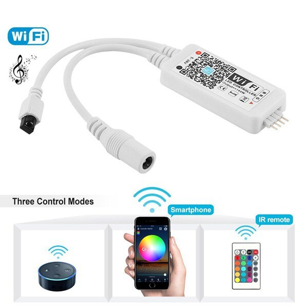 LED WiFi Remote Controller Works with Alexa/Google Magic Home Voice Control for 16Million Colors Wif