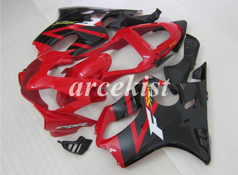 Injection Mold New ABS Fairings Kit Fit for HONDA CBR 600 F4i FS 01 02 03 CBR600 2001 2002 2003 body set red black