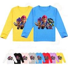 Jeu de tir bébé garçons filles chemises enfants dessin animé étoiles héros Colt à manches longues T-shirt enfant vêtements automne printemps hauts T-shirt