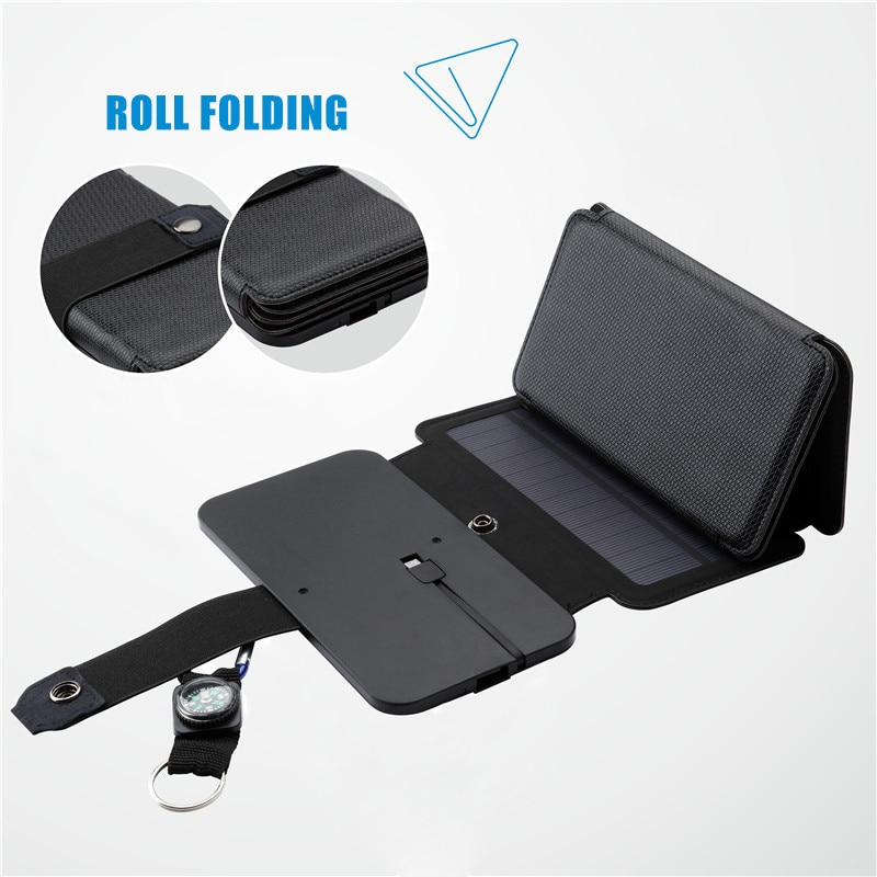 7.5W Portable Folding Solar Charger for Mobile Phone Outdoor Solar Charging Board JHP-Best