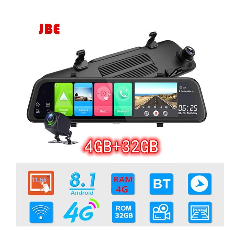 4G Dash Cam 12 بوصة مرآة الرؤية الخلفية للسيارة ، ADAS ، Android 8.1 FHD ، مسجل تلقائي ، ملاحة GPS ، كاميرا لوحة القيادة ، مرآة الرؤية الخلفية ، DVR للسيارة