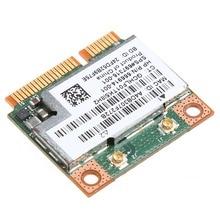 Doble banda 2,4 + 5G 300M 802.11a/b/g/n WiFi Bluetooth 4,0 inalámbrico de mitad de semestre Mini PCI-E de la tarjeta para HP BCM943228HMB SPS 718451-001 Au06 19