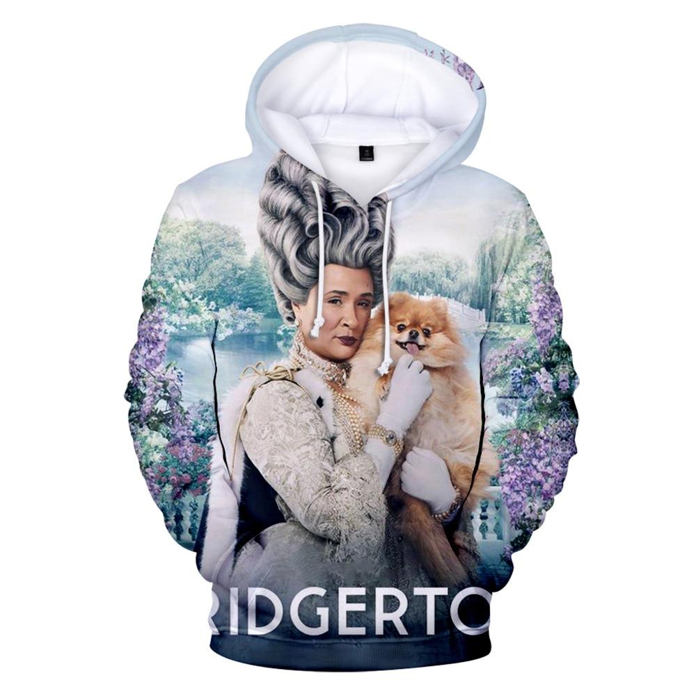 2021 New Bridgerton 3D Printed Hoody Women/Men Fashion Long Sleeve loose Sweatshirt Hot Sale Street Bridgerton trendy Clothes