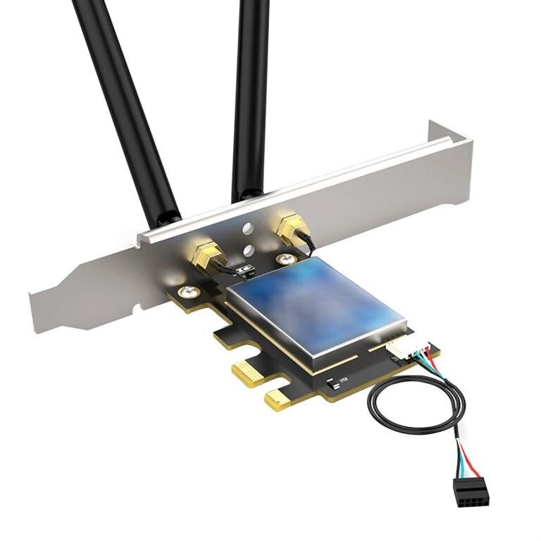 XT-XINTE ثنائي النطاق Wifi6 سطح المكتب اللاسلكي PCIE إنتل بطاقة الشبكة 802.11ax 2.4G/5Ghz BT5.1 جيجابت PCI اكسبرس محول