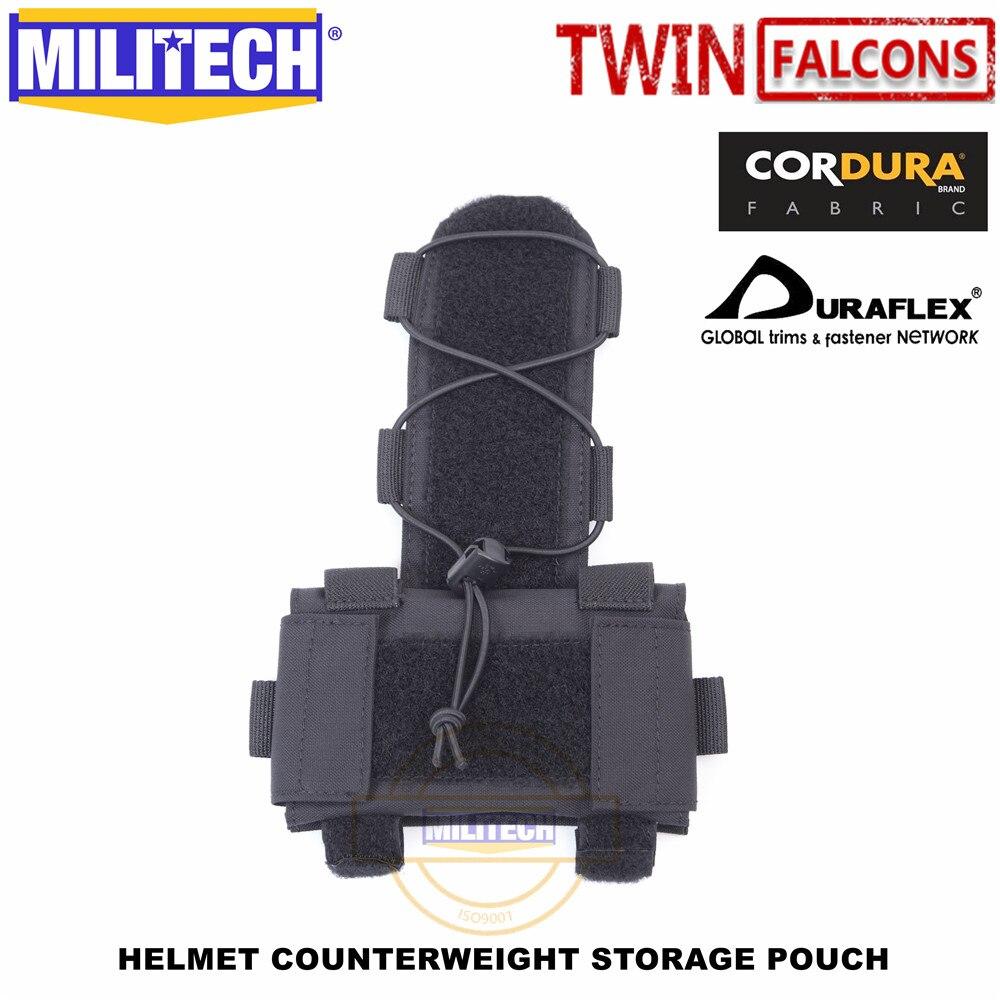 Militech twinfalcons tw capacete contrapeso armazenamento bolsa tn vc bolsa de armazenamento tático militar nvg peso contador bolsa