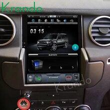 """Krando car radio Android 4,4 de 10,4 """"Tesla pantalla táctil Vertical jugador para Land Rover Discovery 4 2011-2016 sistema de navegación gps"""