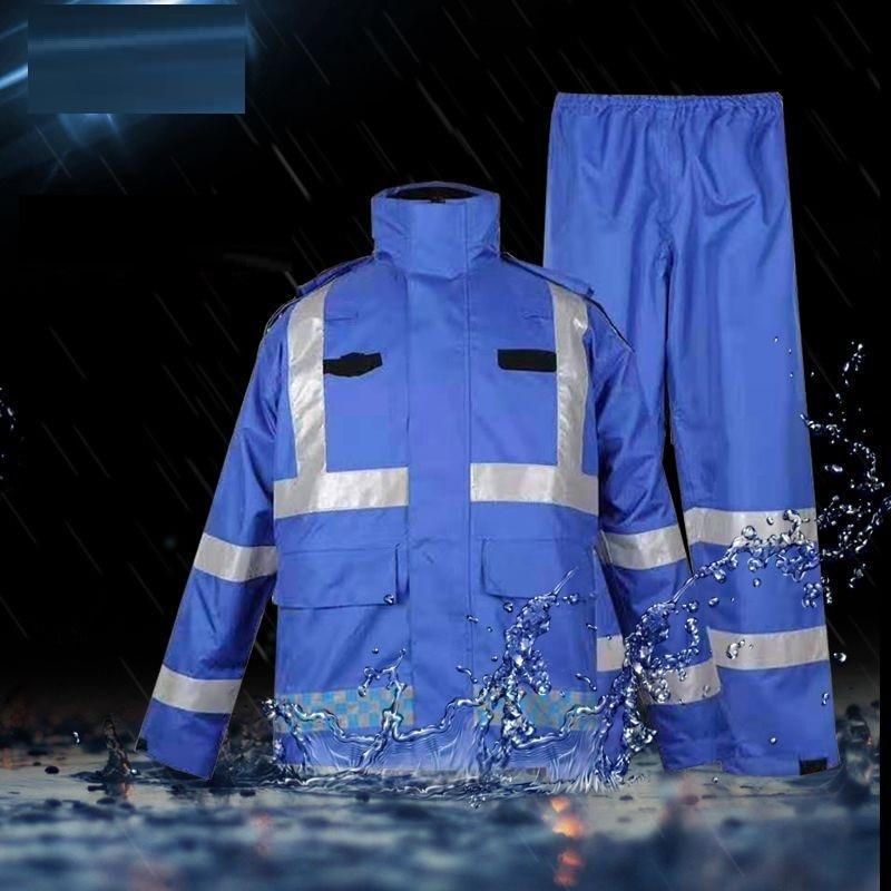 Hi Vis أورانج سلامة المطر جاكيت وسروال عاكس مقاوم للماء يندبروف معطف واق من المطر عمال شحن مجاني الشرطة/الدعاوى المرور