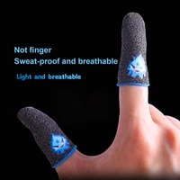 gaming finger sleeve breathable luminous fingertips for pubg mobile games touch screen finger cots cover sensitive mobile touch