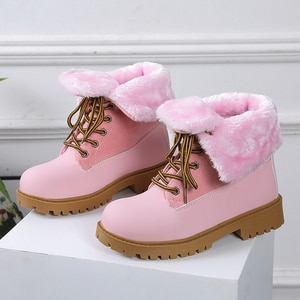 2020 New Winter Snow Boots Women High Quality Lace Up Thick Fur Warm Winter Boots Female Shoes Fashion Ankle Boots