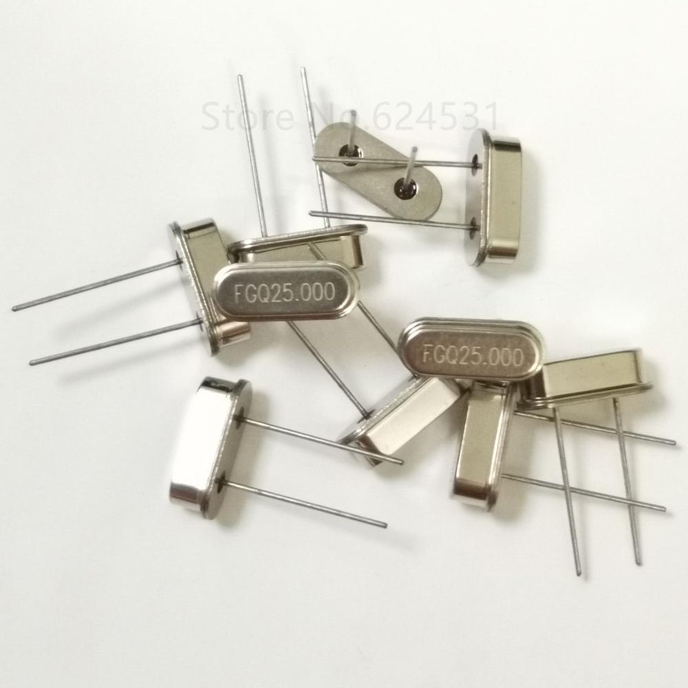 10 Uds HC-49S resonador pasivo de cristal de cuarzo 25MHZ 25.000MHZ 25M en línea