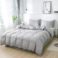 grey bedding set duvet cover pillowcases home soft brushed bedclothes comforter cover twin full queen king size for adult kids