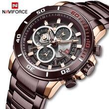 NAVIFORCE Men's Watches Waterproof Steel Quartz Watch Men Military Chronograph Sport Wrist Watch Male Clock Relogio Masculino