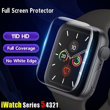 Screen Protector For Apple Watch Series 7 45 mm 41 mm iWatch 11D Full Coverage Film accessories 45mm