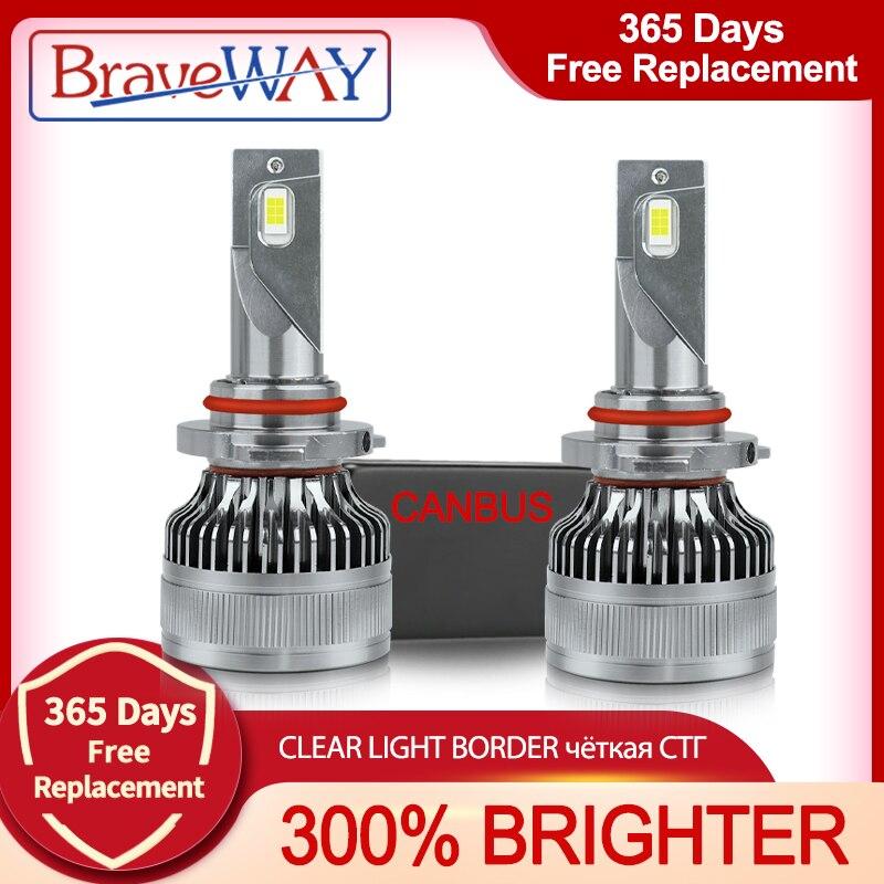 BraveWAY-مصباح أمامي للسيارة LED ، مصباح ضباب 12 فولت ، 9005 واط ، 9006 كيلو ، 100 لومن ، H4 ، H7 ، H11 ، HB3 ، HB4 ، 6000 ، H1 ، جديد