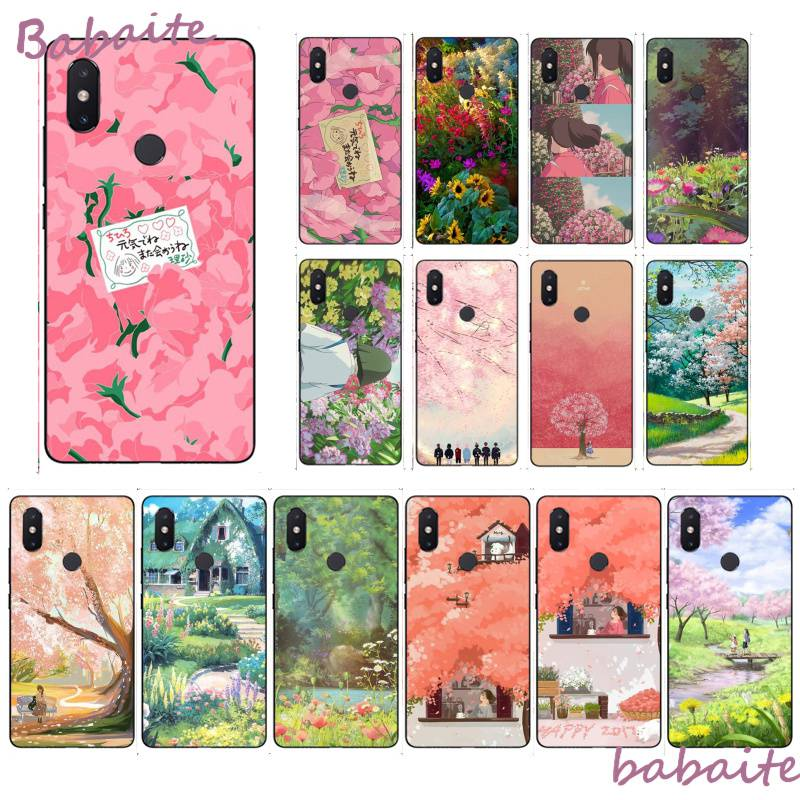 Babaite Kawaii Japanese Pink Flowers Luxury Unique Design PhoneCase  for XiaoMi MI redmi 5 plus 6 pro 6A 4X 7 7A 8 GO Cover