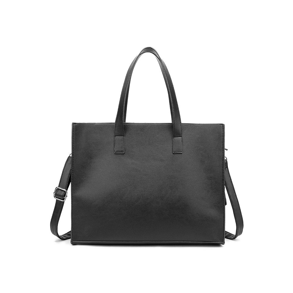 New trend horizontal style tote bag with zipper slant men and women shoulder