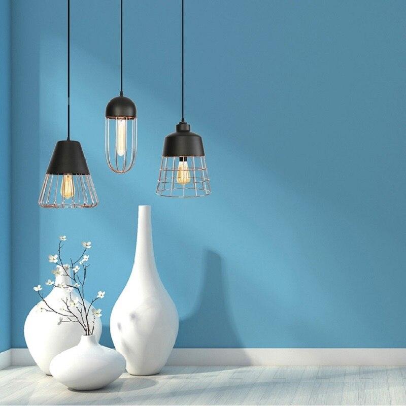 الشمال الرجعية خمر حديد صناعي الحديثة قلادة مصباح متدلٍ للمنزل غرفة الطعام المطبخ مقهى مصباح معلق