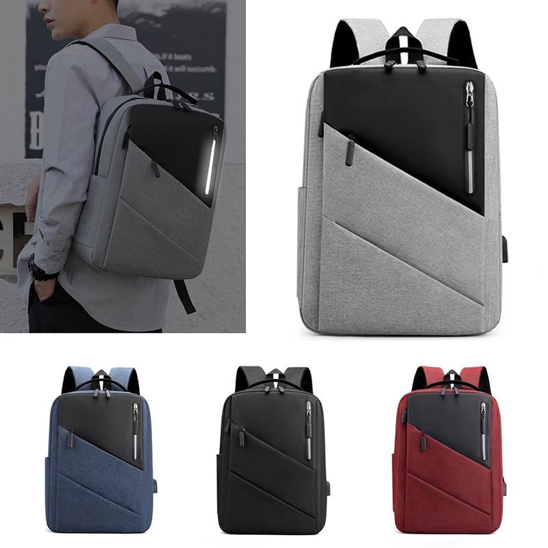 الأعمال حقيبة ظهر للسفر موضة الرجال USB شحن حقيبة الظهر سعة كبيرة حقيبة مدرسية 15.6 بوصة كمبيوتر محمول الذكور Mochila حقيبة كتف