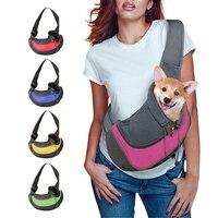 Сумка-переноска для домашних питомцев, Сетчатая Сумка на плечо из ткани Оксфорд, для путешествий с собаками и кошками, S/L