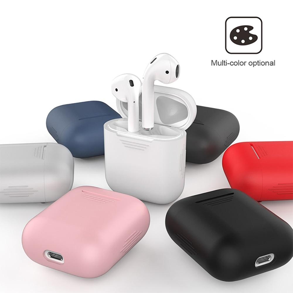 Funda protectora de silicona para funda de AirPods a prueba de golpes para auriculares Air pods 1 2 tws