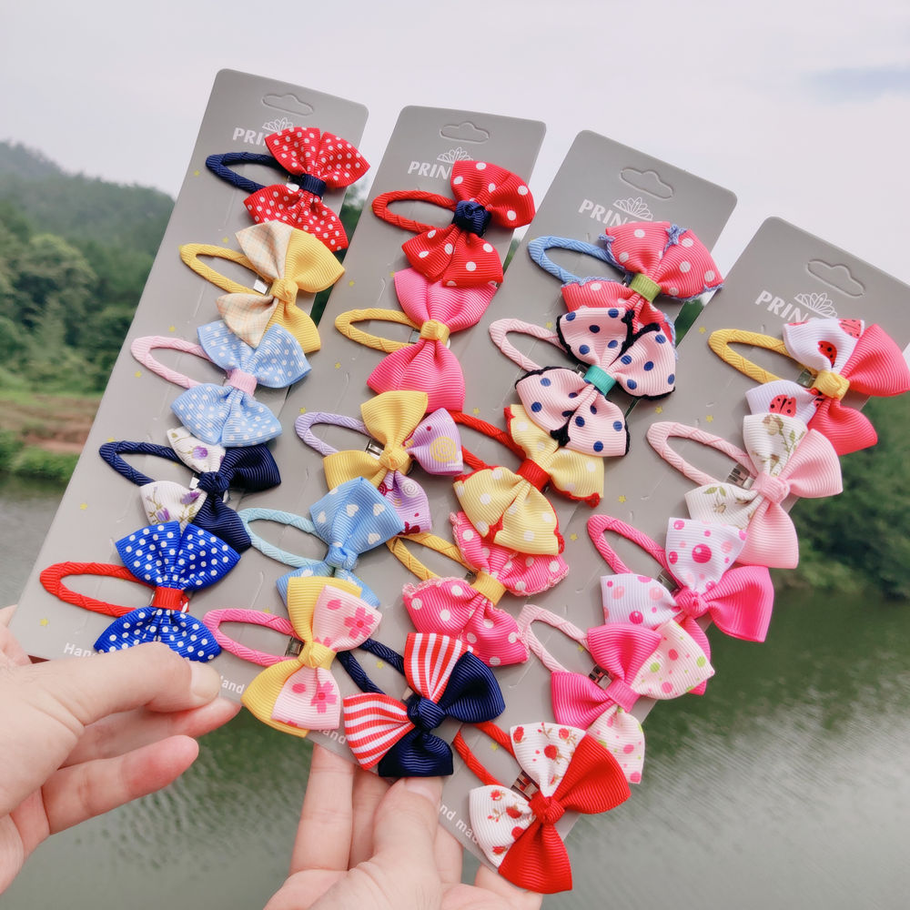 Baby Ribbon Flower Hairpins Kids Hair Clips for Girls Pin Barrettes Accessories Children Ornament Hairclip Headdress