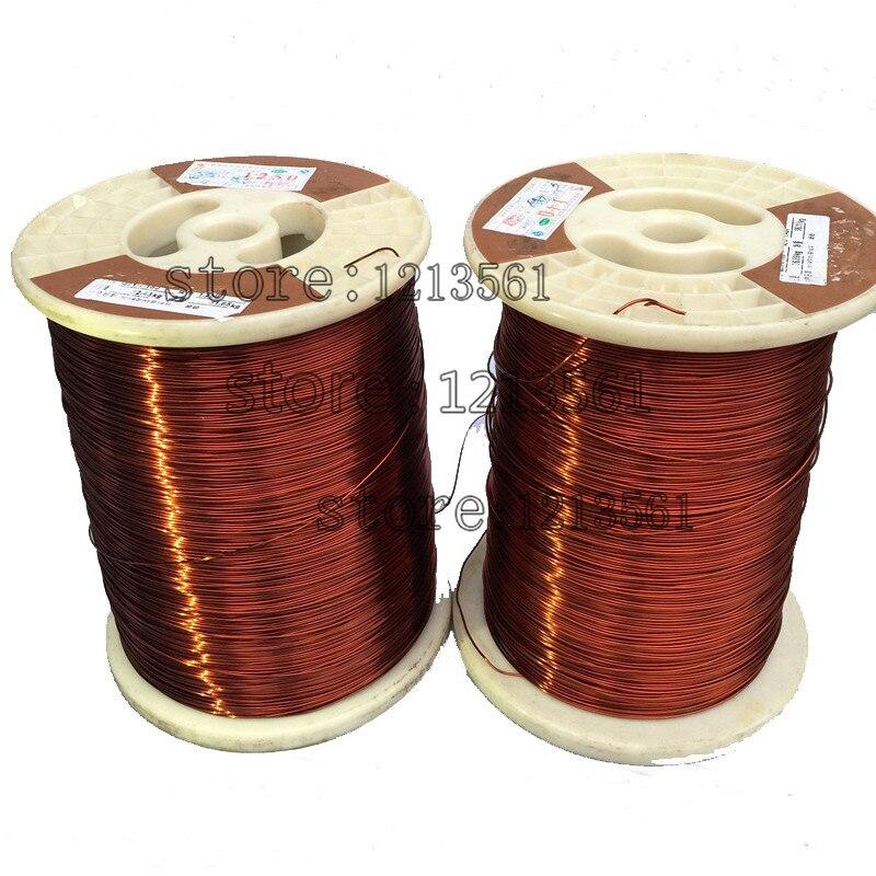 Alambre de cobre esmaltado redondo esmaltado de poliéster de alta temperatura de 0,6 a 0,89 MM QZYL-2-220 220 grados Celsius/alambre magnético