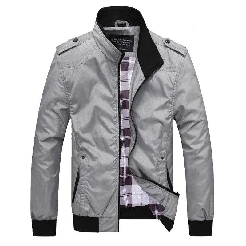 Качественная мужская куртка-бомбер, однотонные пальто, мужская повседневная куртка с воротником-стойкой, верхняя одежда, мужская одежда