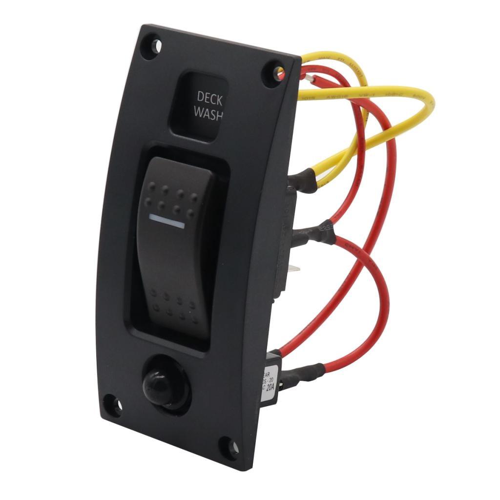Interruptor para caravana marina de 12V CC, Panel de Control IP66, balancín de lavado para cubierta marina, interruptor de encendido-apagado, controlador de lavado para caravana