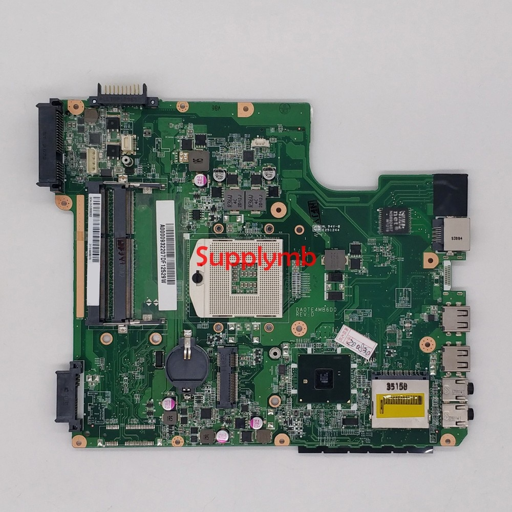 A000093220 DA0TE4MB6D0 HM55 for Toshiba Satellite L740 L745 NoteBook PC Laptop Motherboard Mainboard Tested v000245020 6050a2338501 mb a02 hm55 for toshiba satellite l630 laptop notebook motherboard mainboard tested