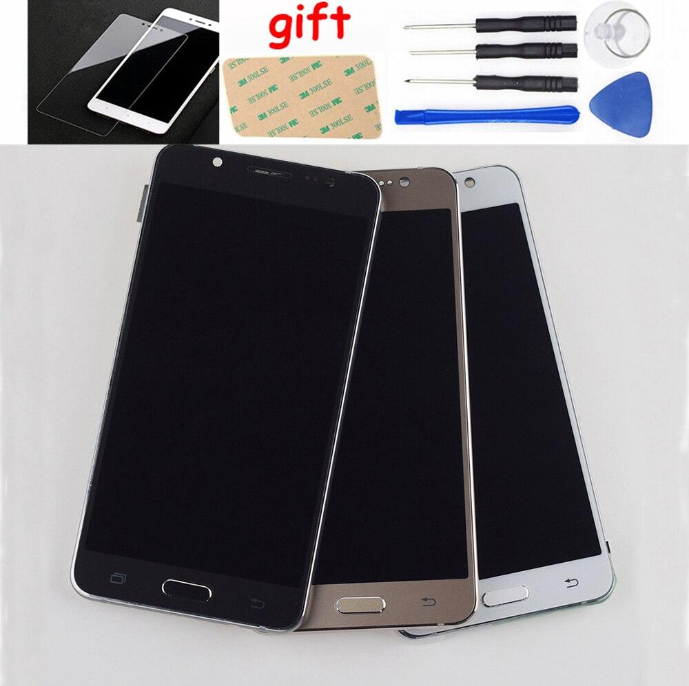 Para Samsung Galaxy J5 2016 pantalla LCD J510FN J510F J510G J510Y J510M J510 pantalla LCD de montaje de digitalizador con pantalla táctil con marco