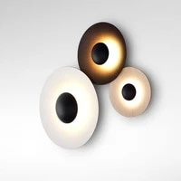led contrast color wall light wood grain creative wall sconce designer wall lamp deco for lving room bedroom bar aisle