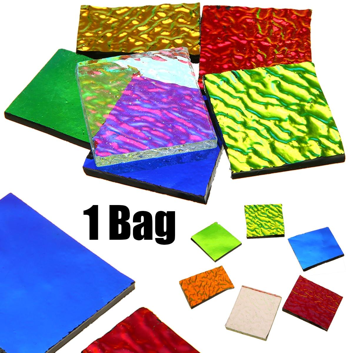 28 g/saco coe90 dichroic vidro mix cor & formas de fusão em vidro forno microondas acessórios para diy jóias de vidro decoração