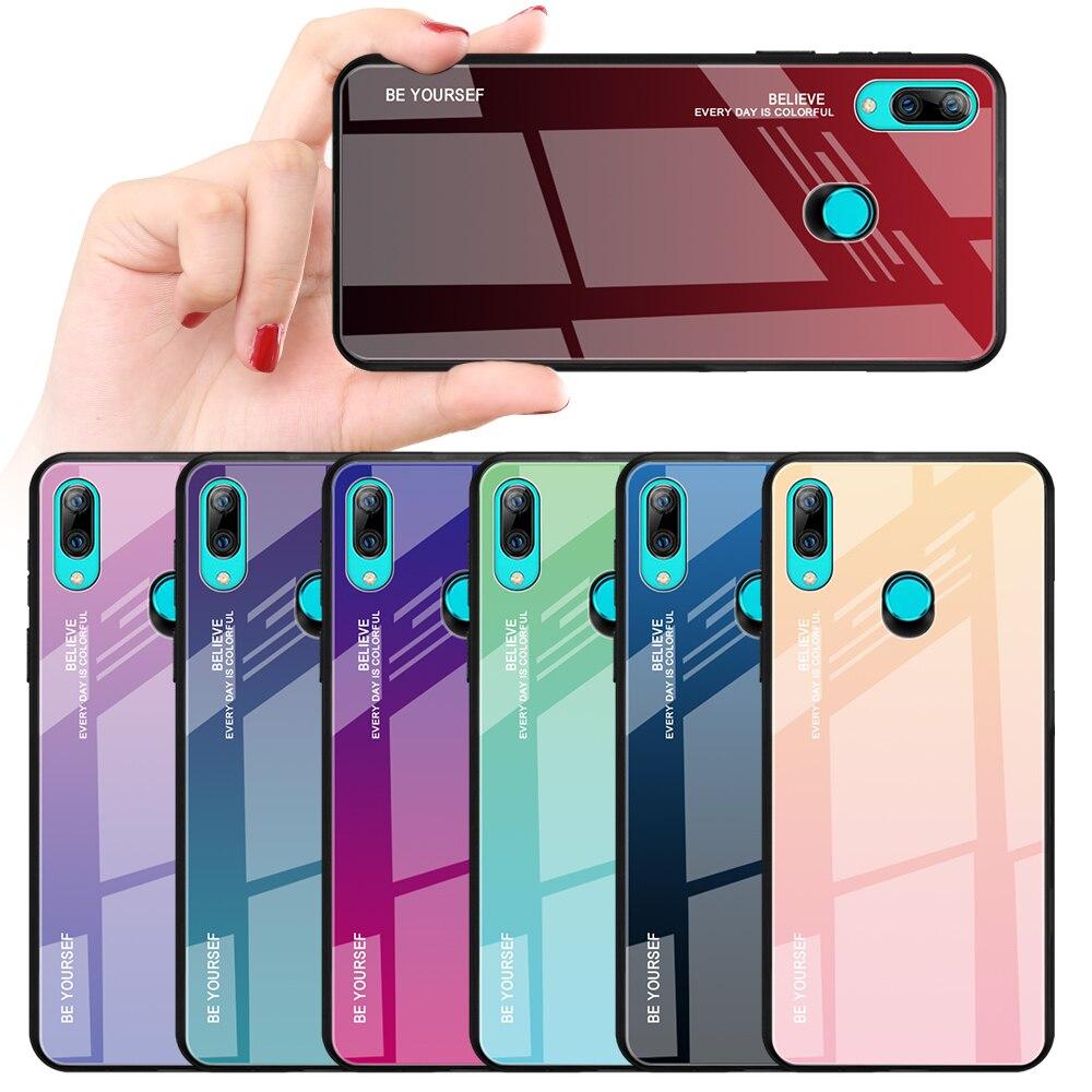 Funda de teléfono con degradado colorido para Huawei Y9 Y6prime P smart Plus 2019 Nova 4E 3i P30 P20 Pro Lite Honor 10i 20i 8A 8X