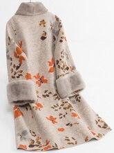 Réel mouton manteau en peau de mouton Femme vison col de fourrure manteaux de laine Veste dhiver femmes coréennes longues vestes Veste Femme mon