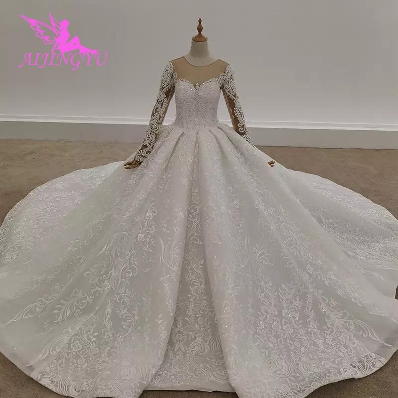 AIJINGYU-فستان زفاف مكشكش عتيق ، فستان زفاف بسعر الجملة من المصنع ، بطيات ، 2021
