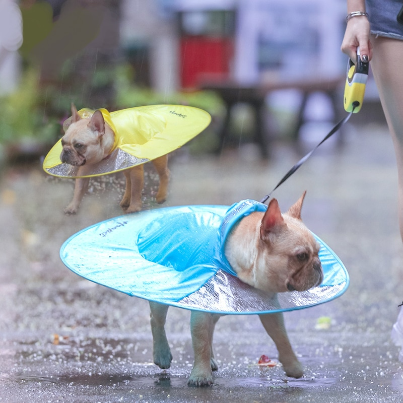 New Pet Waterproof Dog Raincoat Transparent Clothes Cloak Chihuahua French Bulldog Pug Puppy Umbrella Rain Coat Costume