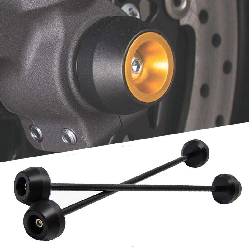 MTKRACING para MT09 FZ09 MT-09 FZ-09 FJ09 FJ-09 XSR900 XSR 900 deslizadores de eje delantero y trasero kit de protección de la rueda de la horquilla
